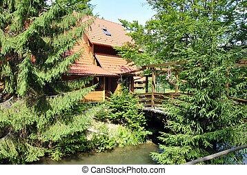 rural home in Carpathians