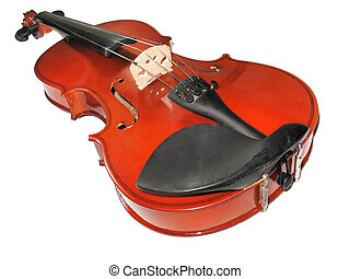 Musical classic violin isolated over white background