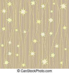 Stripy pattern with stars - Golden stripy seamless pattern...