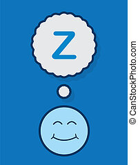 Sleeping Face Z  - Sleeping face with z thought bubble