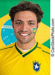 confiante, Brasileiro, homem