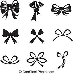 Bow set - Silhouette image of different bow collection