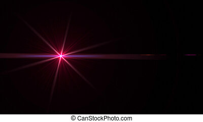 Lens Flares red - beautiful lens flare effect is simple to...