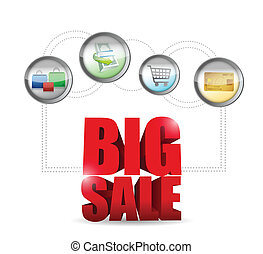 big sale commerce sign illustration design