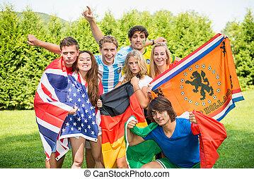 International sports friends - Group of international sports...