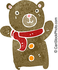 retro cartoon teddy bear - Retro cartoon illustration On...
