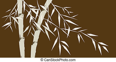 design of chinese bamboo trees, illustration