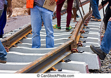 Problems construction of the railway.