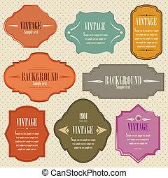 Vintage Label set for you design
