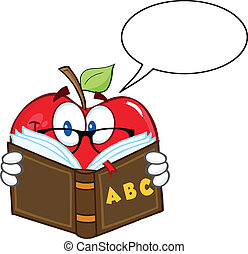Smiling Apple With Speech Bubble - Smiling Apple Teacher...