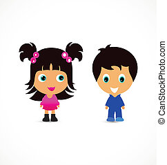 Little children logo - Little children illustration creative...