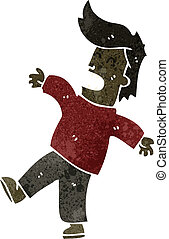 retro cartoon fainting man - Retro cartoon illustration. On...