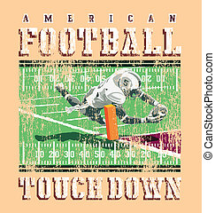 touchdown football rules - football sport vector for T-shirt...