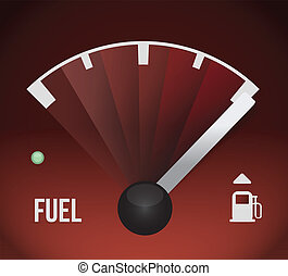 fuel gas tank illustration design over red background