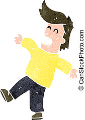 retro cartoon shocked man - Retro cartoon illustration. On...