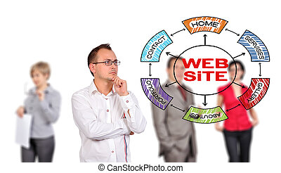 man looking at scheme website - businessman looking at...