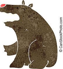 retro cartoon bear