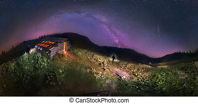 Aliens in the Carpathians in the hunt - Night photography...
