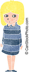 retro cartoon suspicious blond girl - Retro cartoon...