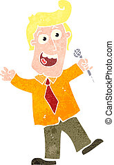 retro cartoon game show host - Retro cartoon illustration On...
