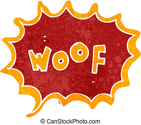 retro cartoon comic book woof - Retro cartoon illustration...