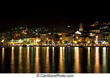 Makarska, Croatia - Makarska at night