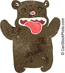 retro cartoon funny teddy bear - Retro cartoon illustration...