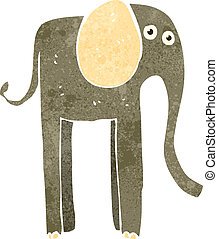 retro cartoon elephant - Retro cartoon illustration. On...