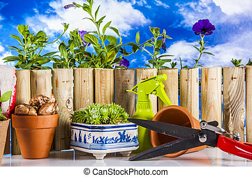 Garden, gardening stuff - Gardening concept