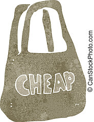 retro cartoon cheap bag