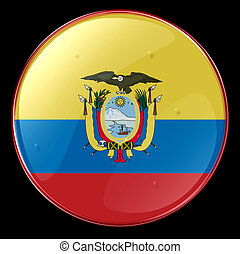 Ecuador Flag Button