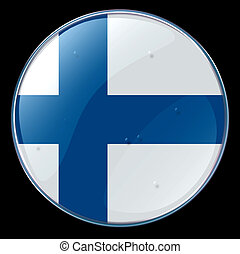 Finland Flag Button