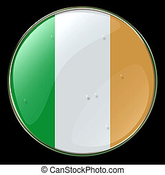 Ireland Flag Button