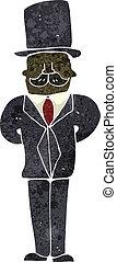retro cartoon man in suit