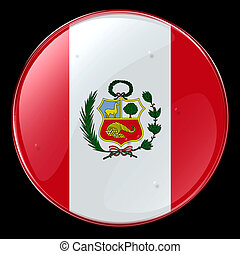 Peru Flag Button