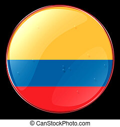 Colombia Flag Button