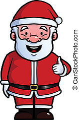 Santa Claus giving thumbs up