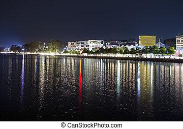 Mandalay City View at Night. 26th St. (B Street), Summer of...