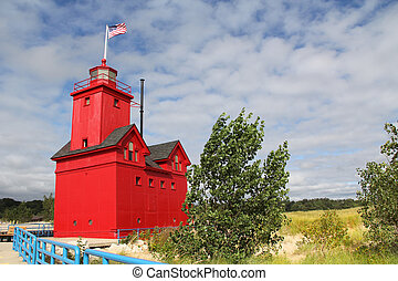 Big Red Lighthouse in Holland Michi - Big Red Lighthouse on...
