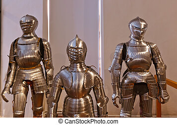 Armour of the knight in Ambras Palace - Innsbruck Austria -...