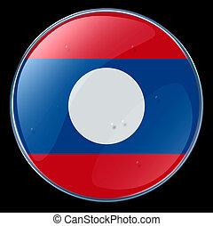 Laos Flag Button