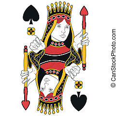 Queen of Spades no card - Queen of Spades without card...