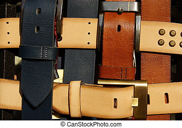 Belts and buckles - Colored leather belts with buckles
