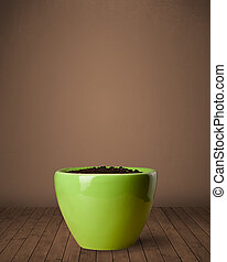 Flowerpot with copy space - Flowerpot with empty space