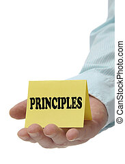 Principles - Sign Series - Business people holding...