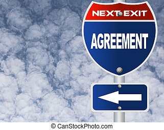 Agreement road sign