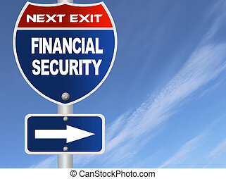 Financial security road sign