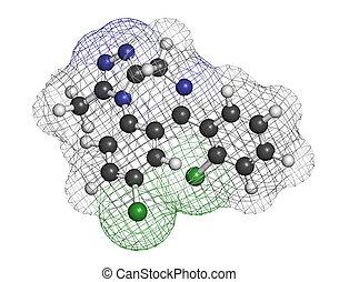 Triazolam insomnia drug (sleeping pill, benzodiazepine...