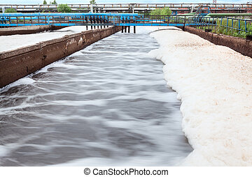 Volumes for oxygen aeration in wastewater treatment plant....