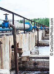 Taps for oxygen supplying into the sewage water in tanks